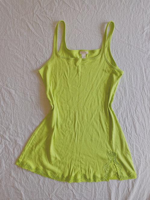 Vintage Lime Green Dress (XL)
