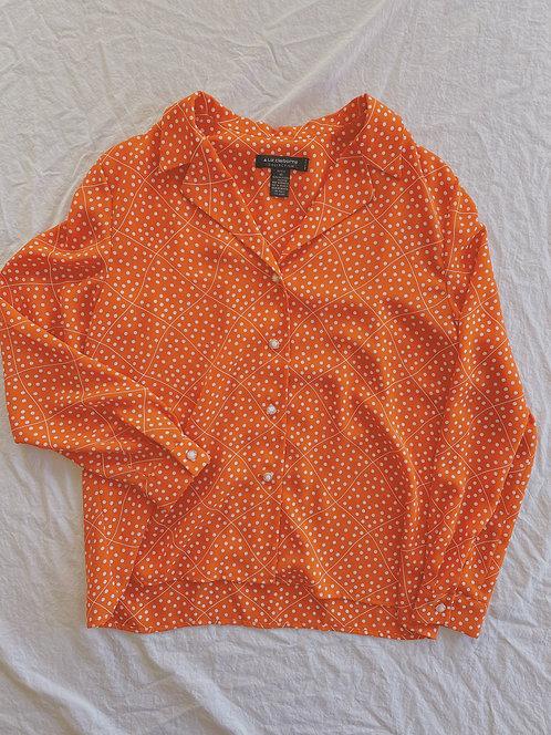 Vintage Orange Domino Button-Up (M)