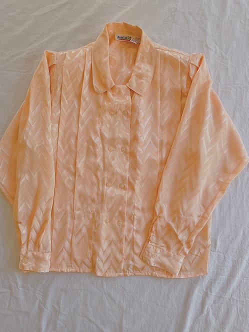 Vintage Peach Double Button Blouse (M)