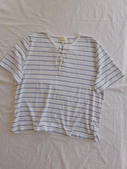 Vintage Striped Shoelace Top (L/XL)