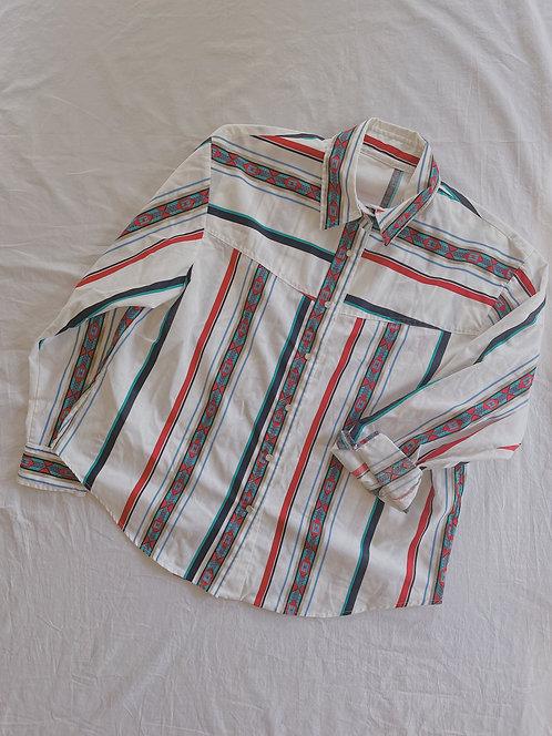 Vintage White Cowboy Button-Up (XL)