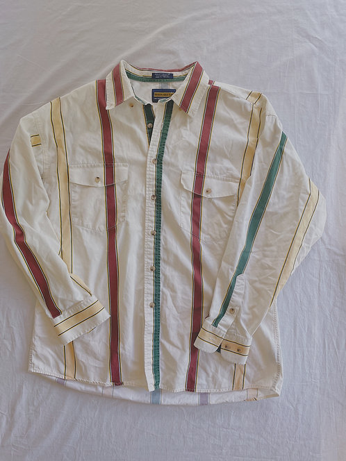 Vintage Western Lined Shirt (XL)