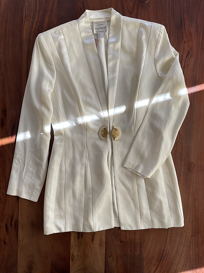 Vintage White Clasp Blazer (M)