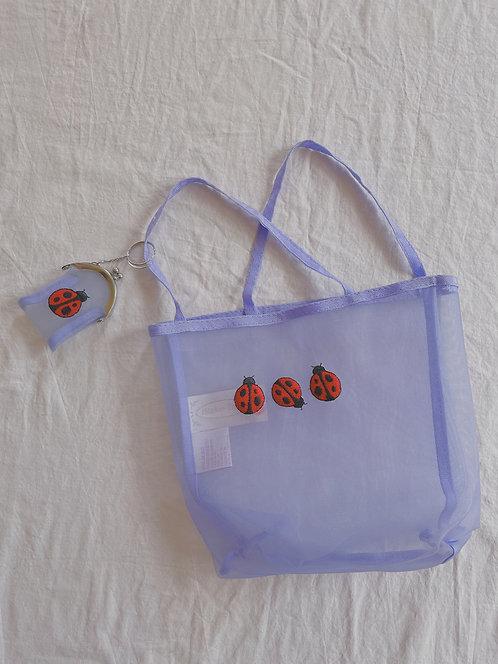 Y2K Purple Ladybug Bag