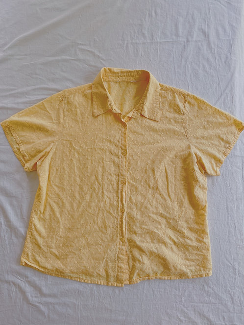 Vintage Spring Yellow Button-Up (L)