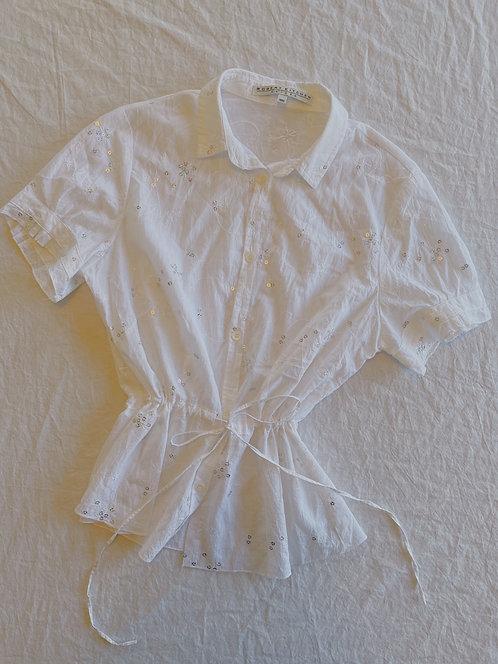 Y2K Sequin Cinched Waist Top (M)