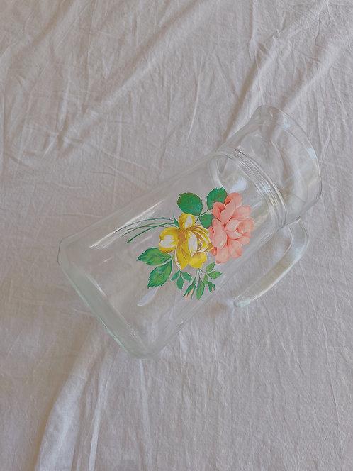 Vintage Rose Glass Jug