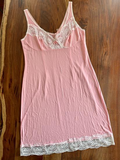 Vintage Pink Midi Slip Dress (L-XL)