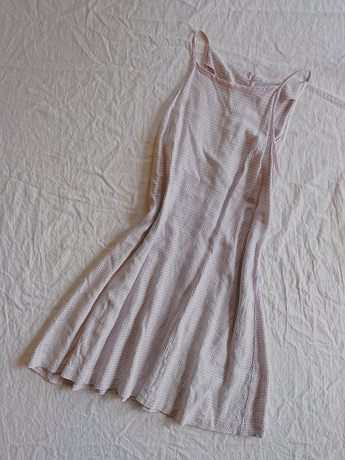 Vintage Purple Gingham Dress (XS/S)