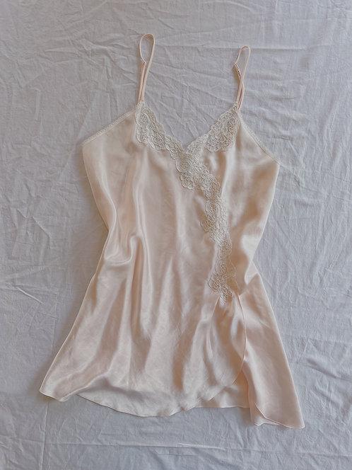 Vintage Lace Soft Pink Slip (M)