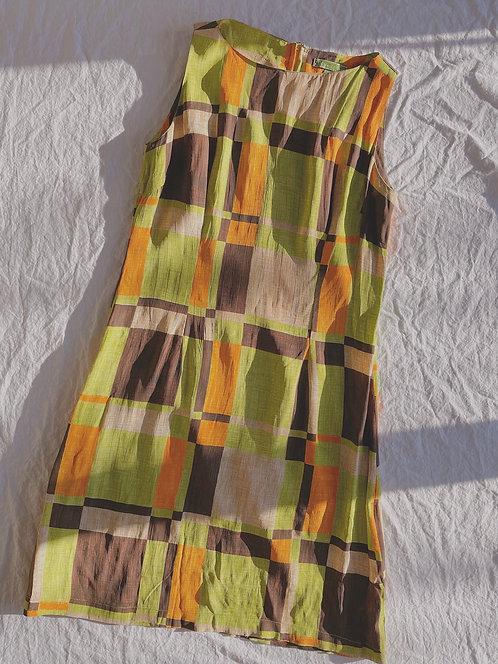 Modern Colour Block Dress (S)