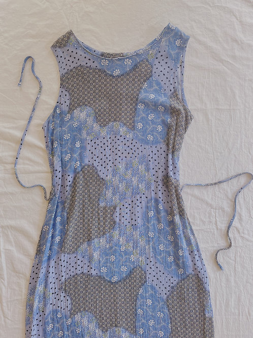 Vintage Printed Maxi Dress (M/L)