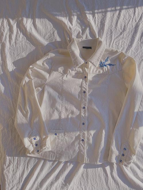 Modern Floral Jean Jacket (XL)