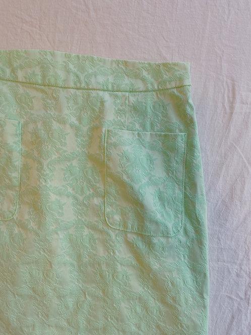 Modern Teal Printed Skirt (8/M/L)