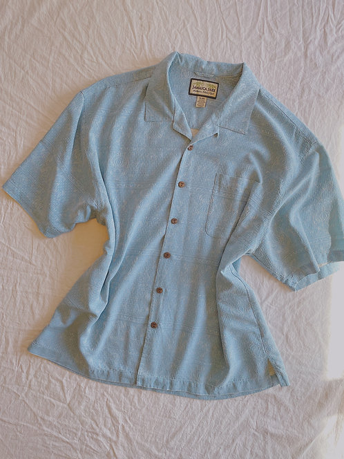 Modern Embossed Wood Button-Up (XL)