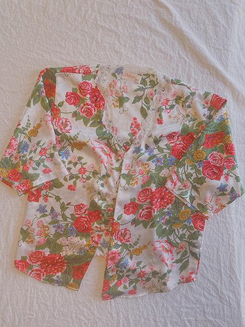 Vintage Floral Cover-Up (XL)
