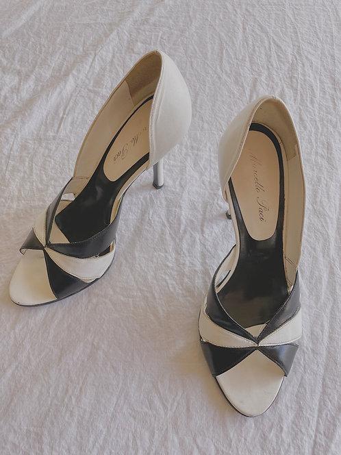 Vintage Black and White Heels (5)