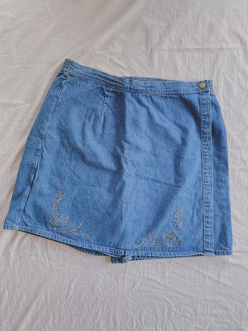90's Jean Embroidered Skort (XXL)