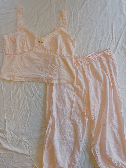 Y2K Pink Rose PJ Set (M)