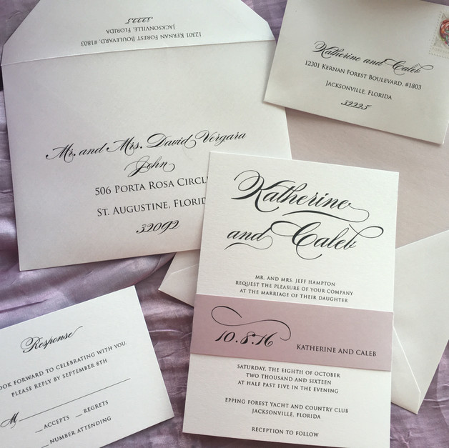 Shimmer Belly Band Invitation