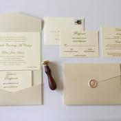 Gold Foil Pocket Invitation