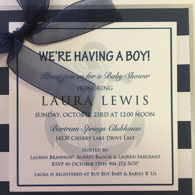 Anchor Baby Shower Invitation