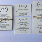 This invitation suite with matching prog