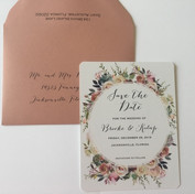 Shabby Chic Save the Date