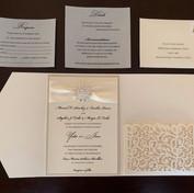Broach Laser Pocket Invitation
