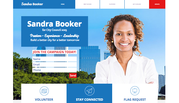 Community website templates – Campaign Site