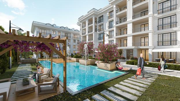 Süs havuzları, yeşil alanlar ve size özel bir huzur ; Hilal Hill'de ayrıcalıklar size özel ...