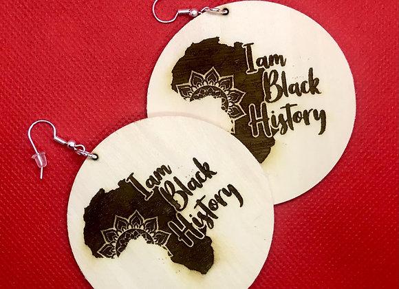 I am Black History Earrings