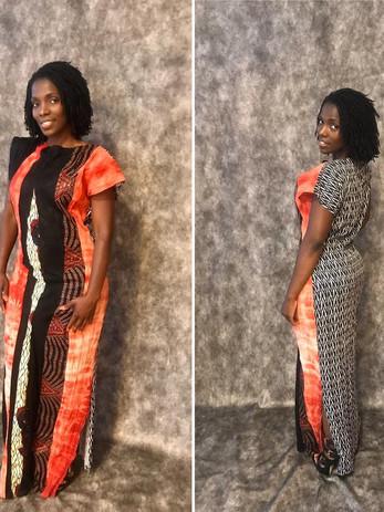 African full length dress