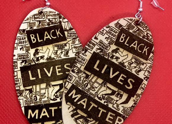 Oval Black Lives Matter Earrings