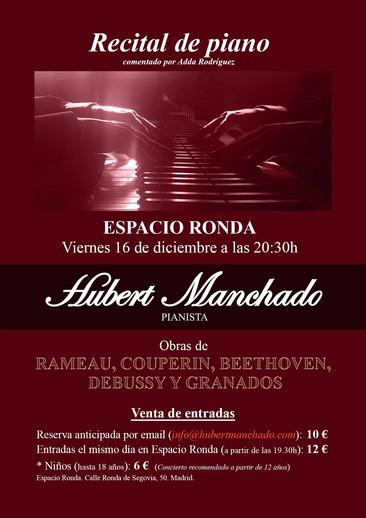RECITAL DE PIANO DE HUBERT MANCHADO