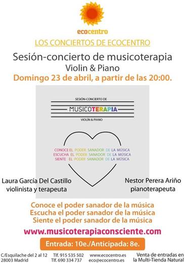 III SESIÓN-CONCIERTO DE MUSICOTERAPIA