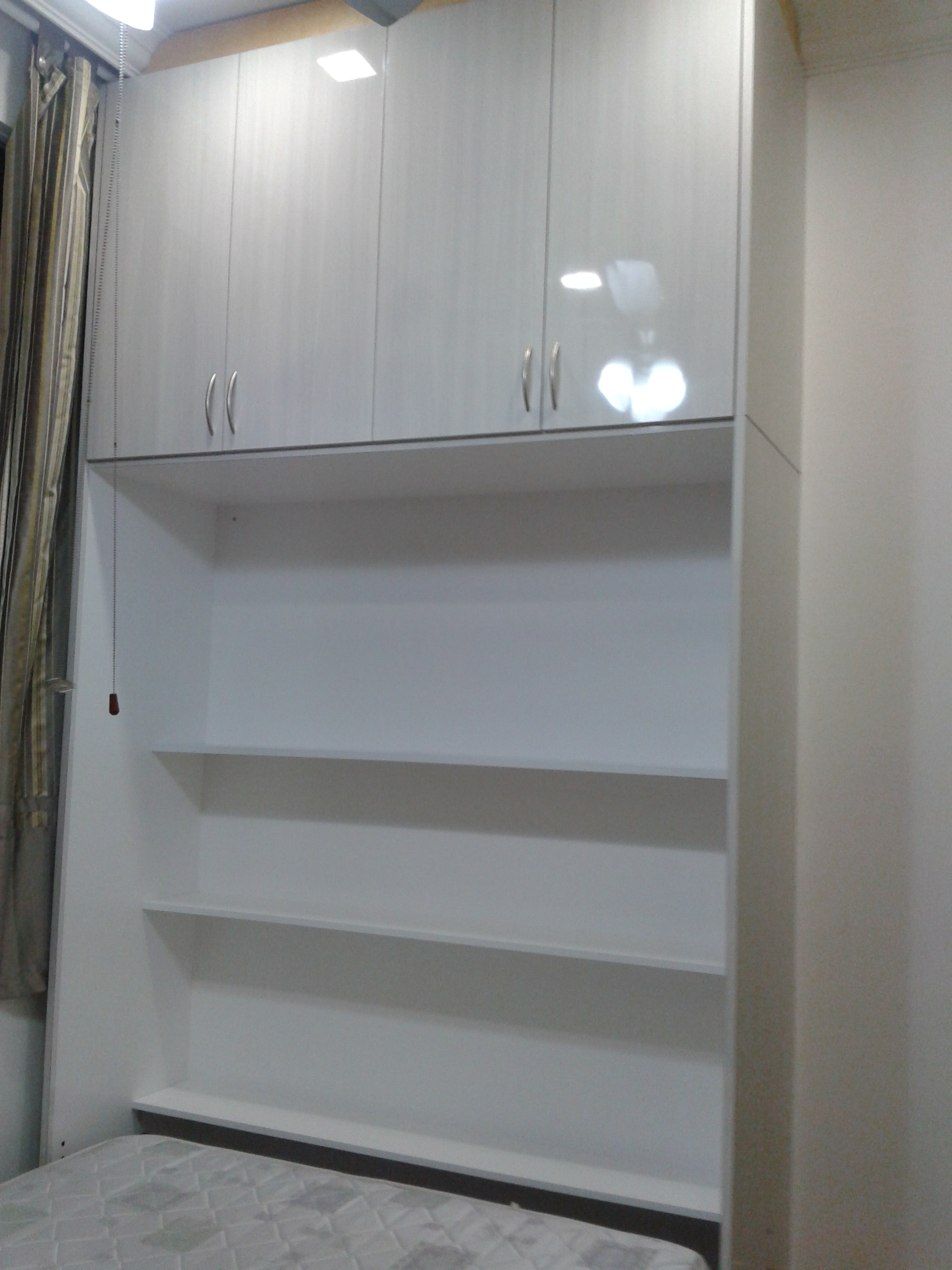 WallBed fully open (Hidden Shelves)