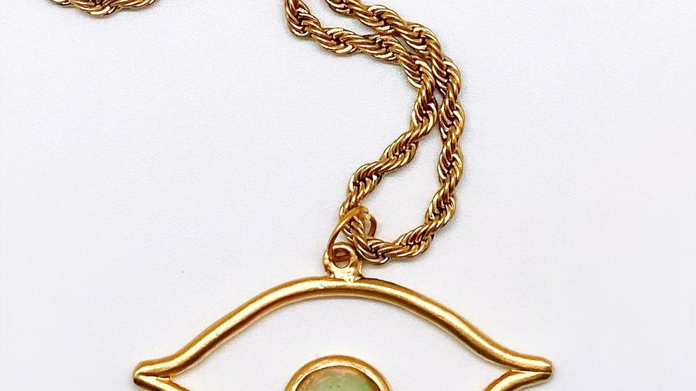 Ethiopian Opal Eye Necklace