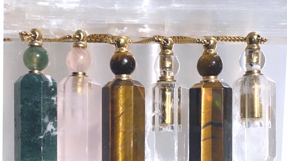 Crystal Quartz Essential Oil Necklace