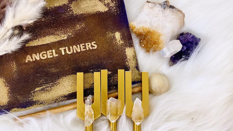 Angel Tuning Forks Crystal Quartz Set.
