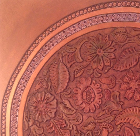 Bronze Garden - decorative plate