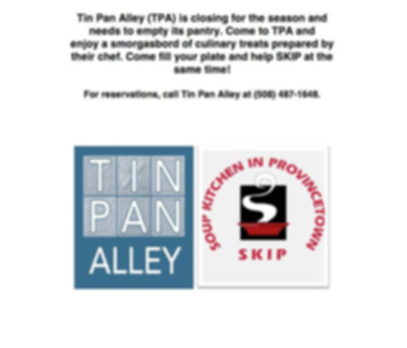 Tin Pan Alley SKIP Benefit