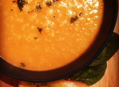 Diary-free Pumpkin soup with a twist