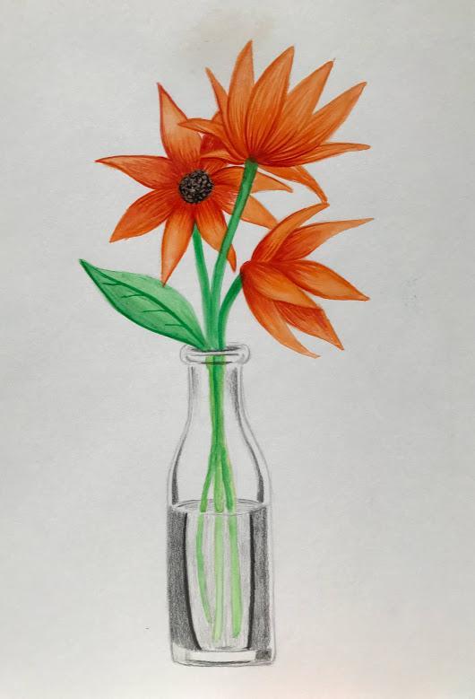 2017. Flower Vase Still Life