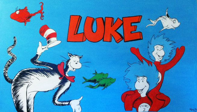 Dr.Seuss Mural for Nursery 2014