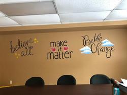 Wall Mural Teachers Meeting room 2019