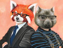 Fox and Wombat couple 2020