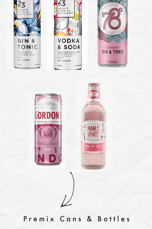 Gin & Vodka Cans Premix