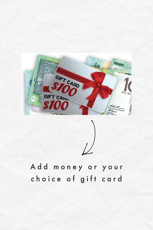 Money or Gift Card