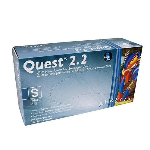 Quest 2.2 Nitrile Vinyl Powder Free Disposable Gloves (200 Pieces)